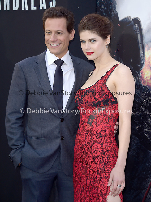 Alexandra Daddario and Ioan Gruffud attends The Warner Bros. Pictures World Premiere of San Andreas held at the TCL Chinese Theatre  in Hollywood, California on May 26,2015                                                                               © 2015 Hollywood Press Agency