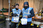 Anne White and Simon McMahon collecting for Drogheda Homeless Aid at the annual Christmas 24hr sleepout. Photo:Colin Bell/pressphotos.ie
