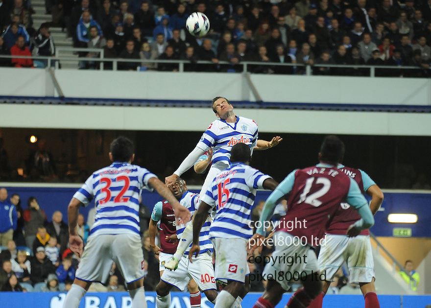 Ryan Nelsen of Queens Park Rangers in action during the Barclays Premier League match between West Ham United and Queens Park Rangers at Loftus Road on Monday ,01 October 2012 in London, England. Picture Zed Jameson/pixel 8000 ltd