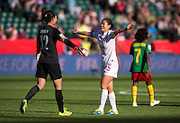 Edmonton, Canada- June 20, 2015:  China defeated Cameroon 1-0 during the round of 16 of the FIFA Women's World Cup in Vancouver.