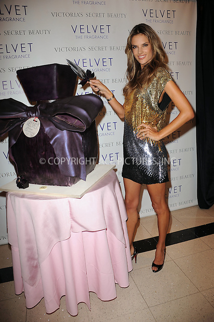 WWW.ACEPIXS.COM . . . . . ....October 14 2009, New York City....Model Alessandra Ambrosio at the launch of 'Velvet: The Fragrance by VS Beauty' at Victoria's Secret, Lexington Avenue on October 14, 2009 in New York City....Please byline: KRISTIN CALLAHAN - ACEPIXS.COM.. . . . . . ..Ace Pictures, Inc:  ..tel: (212) 243 8787 or (646) 769 0430..e-mail: info@acepixs.com..web: http://www.acepixs.com