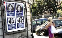 Dopo le rivelazioni della donna di uno dei boss della banda della Magliana, i manifesti raffiguranti Mirella Gregori ed Emanuela Orlandi, ragazze di quindici anni scomparse nel 1983, sono stati ristampati ed affissi lungo le strade di Roma, 23 giugno 2008..UPDATE IMAGES PRESS/Riccardo De Luca