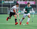 AMSTELVEEN -  Boris Burkhardt (Adam) met Tristan Algera (R'dam)   tijdens de hoofdklasse competitiewedstrijd heren, AMSTERDAM-ROTTERDAM (2-2). . COPYRIGHT KOEN SUYK