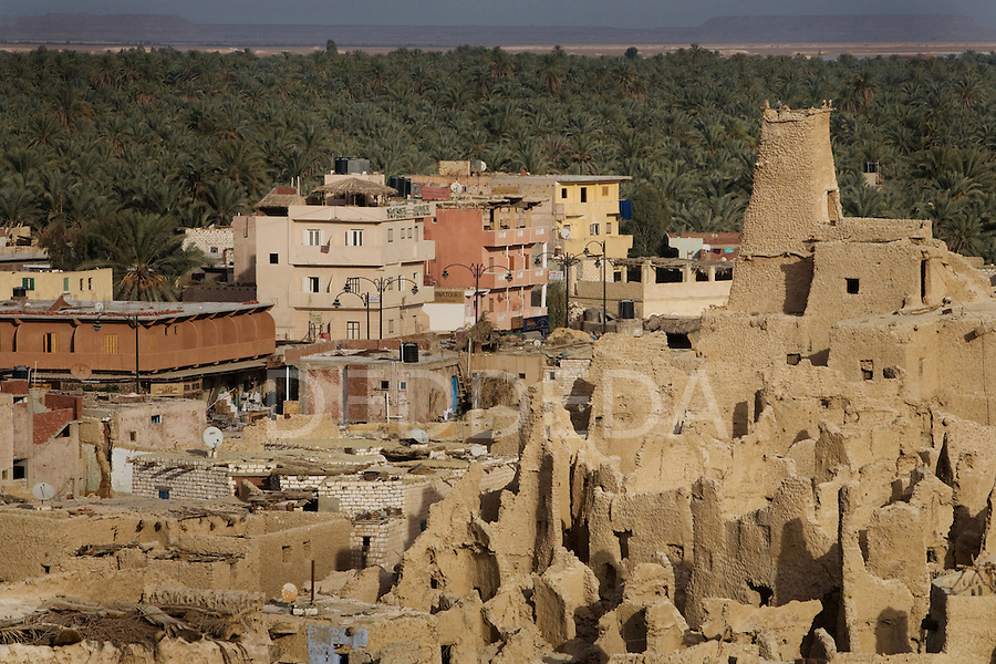 The ancient fortress of Shali meets the modern Siwa Town in the Siwa Oasis, near the Libyan border in Egypt.