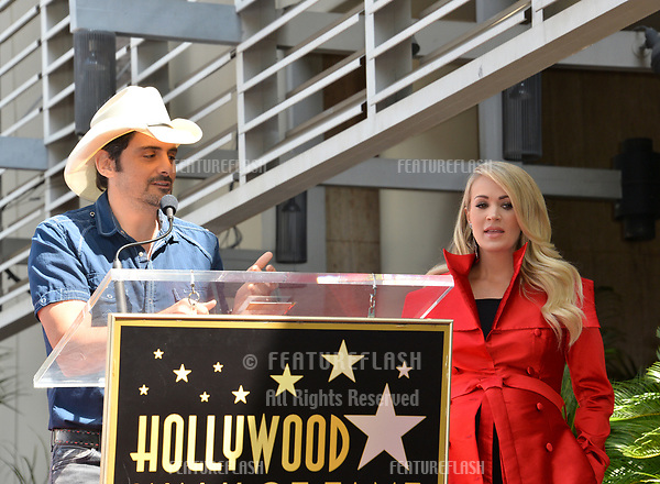 LOS ANGELES, CA. September 20, 2018: Brad Paisley & Carrie Underwood at the Hollywood Walk of Fame Star Ceremony honoring singer Carrie Underwood.<br /> Pictures: Paul Smith/Featureflash