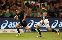 PRETORIA, SOUTH AFRICA - OCTOBER 06: Aaron Smith of the New Zealand (All Blacks) going over for a try during the Rugby Championship match between South Africa Springboks and New Zealand All Blacks at Loftus Versfeld Stadium. on October 6, 2018 in Pretoria, South Africa. Photo: Steve Haag / stevehaagsports.com