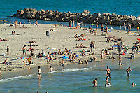 Bathers at the beach, Prophete, Marseille, France.