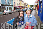 Sarah Mullins and Kathleen O'Shea Christmas shopping in Kenmare on Friday.