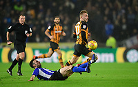Hull City's Jarrod Bowen vies for possession with Sheffield Wednesday's Morgan Fox<br /> <br /> Photographer Chris Vaughan/CameraSport<br /> <br /> The EFL Sky Bet Championship - Hull City v Sheffield Wednesday - Saturday 12th January 2019 - KCOM Stadium - Hull<br /> <br /> World Copyright © 2019 CameraSport. All rights reserved. 43 Linden Ave. Countesthorpe. Leicester. England. LE8 5PG - Tel: +44 (0) 116 277 4147 - admin@camerasport.com - www.camerasport.com