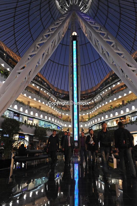Inside the massive tented shopping center in Astana, the capitol of Kazakstan.<br /><br />PHOTO BY RICHARD JONES/SINOPIX