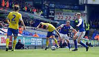 Leeds United's Mateusz Klich battles with  Ipswich Town's Alan Judge<br /> <br /> Photographer Hannah Fountain/CameraSport<br /> <br /> The EFL Sky Bet Championship - Ipswich Town v Leeds United - Sunday 5th May 2019 - Portman Road - Ipswich<br /> <br /> World Copyright © 2019 CameraSport. All rights reserved. 43 Linden Ave. Countesthorpe. Leicester. England. LE8 5PG - Tel: +44 (0) 116 277 4147 - admin@camerasport.com - www.camerasport.com