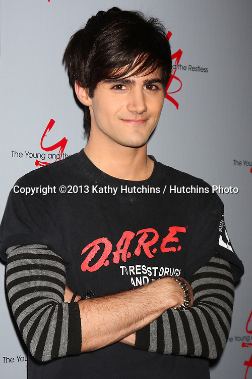 LOS ANGELES - FEB 27:  Max Ehrich at the Hot New Faces of the Young and the Restless press event at the CBS Television City on February 27, 2013 in Los Angeles, CA
