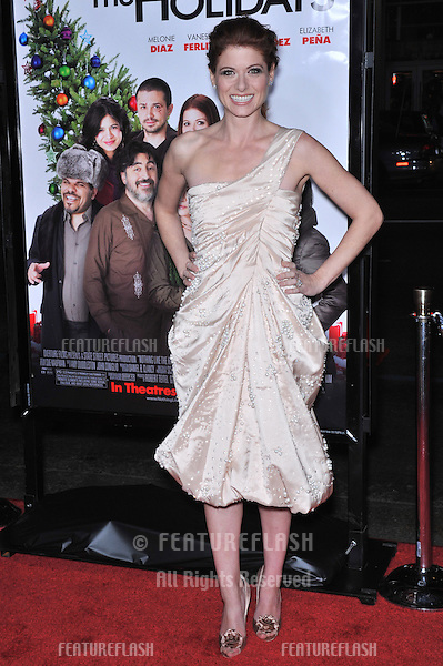 "Debra Messing at the Los Angeles premiere of her new movie ""Nothing Like The Holidays"" at Grauman's Chinese Theatre, Hollywood..December 3, 2008  Los Angeles, CA.Picture: Paul Smith / Featureflash"