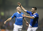 Nicky Law celebrates his goal with Lee Wallace