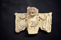 Coma Zotz or Killer bat, emblem of the ancient Mayan city of Copan, Sculpture Museum, Copan, Honduras