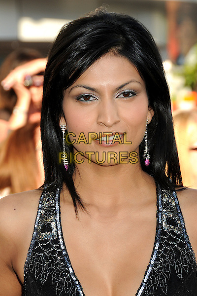 "TINSEL KOREY .""The Twilight Saga: Eclipse"" Los Angeles Premiere at the 2010 Los Angeles Film Festival held at Nokia Theatre LA Live, Los Angeles, California, USA, 24th June 2010..portrait headshot black halterneck dangly earrings pink silver beaded .CAP/ADM/BP.©Byron Purvis/AdMedia/Capital Pictures."