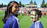 LA Sol fans. The Los Angeles Sol defeated FC Gold Pride, 2-0, at Buck Shaw Stadium in Santa Clara, CA on May 24, 2009.