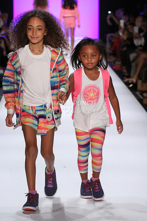 Image from the Converse Spring Summer 2017 children's collection fashion show for Rookie USA runway show presented by Haddad Brands, during New York Fashion Week: The Shows in Skylight at Moynihan Station on September 8, 2016.