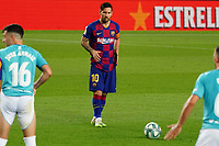 16th July 2020; Camp Nou, Barcelona, Catalonia, Spain; La Liga Football, Barcelona versus Osasuna;  Leo Messi sets up to take a direct free kick