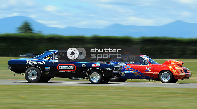 NDRA Southern Drag Racing Nationals. Motueka Airport, Motueka, Nelson, New Zealand. Saturday 1 February 2014. Photo: Chris Symes/www.shuttersport.co.nz