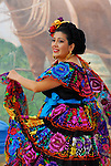 hispanic dancer at Tamale Festival in Indio