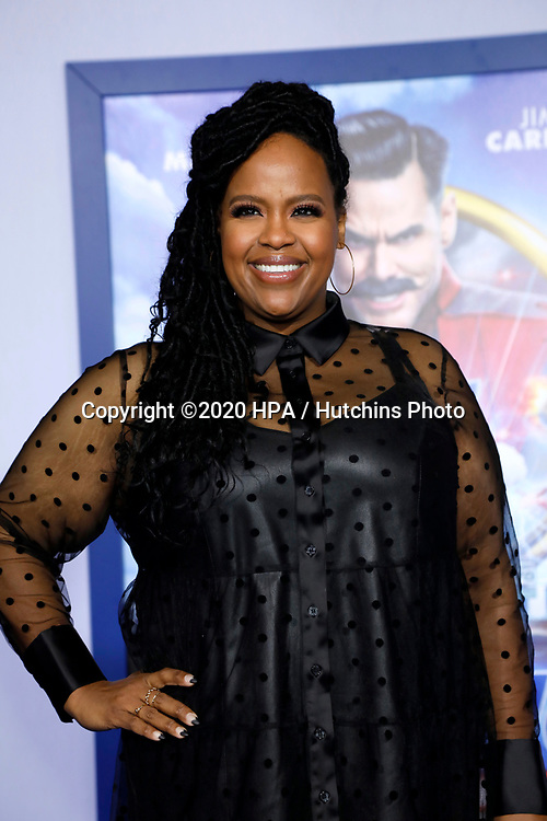"""LOS ANGELES - FEB 12:  Natasha Rothwell at the """"Sonic The Hedgehog"""" Special Screening at the Village Theater on February 12, 2020 in Westwood, CA"""