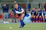 GER - Mannheim, Germany, April 22: During the German Hockey Bundesliga women match between Mannheimer HC (blue) and Club an der Alster (red) on April 22, 2017 at Am Neckarkanal in Mannheim, Germany. Final score 1-1 (HT 1-0).  Nike Lorenz #16 of Mannheimer HC<br /> <br /> Foto &copy; PIX-Sportfotos *** Foto ist honorarpflichtig! *** Auf Anfrage in hoeherer Qualitaet/Aufloesung. Belegexemplar erbeten. Veroeffentlichung ausschliesslich fuer journalistisch-publizistische Zwecke. For editorial use only.