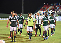 MONTERÍA - COLOMBIA ,30-01-2019:Jugadores del Deportivo Cali abandonan el campo de juego al finalizar el encuentro contra Jaguares de Códoba decepcionados al perder un  gol cero   durante partido por la fecha 2 de la Liga Águila I 2019 jugado en el estadio Municipal Jaraguay de Montería . / Deportivo Cali players leave the field at the end of the match against Jaguares de Códoba disappointed to lose a goal zero during the match for the date 2 of the Liga Aguila I 2019 played at Municipal Jaraguay Satdium in Monteria City . Photo: VizzorImage / Andrés Felipe López  / Contribuidor.