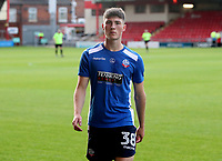 Bolton Wanderers' Jack Earing during the pre-match warm-up <br /> <br /> Photographer Rachel Holborn/CameraSport<br /> <br /> The Carabao Cup - Crewe Alexandra v Bolton Wanderers - Wednesday 9th August 2017 - Alexandra Stadium - Crewe<br />  <br /> World Copyright &copy; 2017 CameraSport. All rights reserved. 43 Linden Ave. Countesthorpe. Leicester. England. LE8 5PG - Tel: +44 (0) 116 277 4147 - admin@camerasport.com - www.camerasport.com