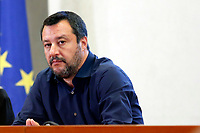 Matteo Salvini<br /> Rome March 27th 2019. The Minister of internal affairs Matteo Salvini meets the students that were on the school bus that was hijacked last week in Crema. Two of the students, Rami and Adam, hailed as heroes for helping saving their classmates when they had been abducted by a Senegalese with Italian citizenship bus driver who tried to set fire to the school bus.<br /> photo di Samantha Zucchi/Insidefoto