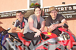 BIKER RUN: Kerry Bikers launching their Charity Bike Run in aid of Cystic Fibrosis at the Mid Western Regional Hospital to held at Herbert's bar, Kilflynn at 11:00am on Sunday July 31st of August l-r: Aidan Sheehan, Marissa O'Connell and Declan O'Connell.