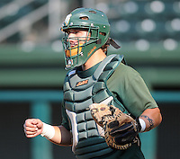 June 5, 2008: Catcher Matt Klimas (9) of the Augusta GreenJackets, Class A affiliate of the San Francisco Giants, prior to a game against the Greenville Drive at Fluor Field at the West End in Greenville, S.C. Photo by:  Tom Priddy/Four Seam Images