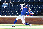 WINSTON-SALEM, NC - MARCH 04: UMass Lowell's Jeff Mejia. The Wake Forest University Demon Deacons hosted the UMass Lowell River Hawks on March 4, 2018, at David F. Couch Ballpark in Winston-Salem, NC in a Division I College Baseball game. Wake Forest won the game 14-7.