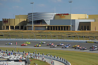 Kansas Speedway & Hollywood Casino overlooking turn 2.