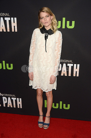 LOS ANGELES, CA - MARCH 21: Emma Greenwell at the Los Angeles premiere of Hulu's The Path at The ArcLight Hollywood in Los Angeles, California on March 21, 2016. Credit: David Edwards/MediaPunch
