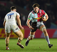 Charlie Matthews of Harlequins in possession. European Rugby Champions Cup match, between Harlequins and Wasps on January 13, 2018 at the Twickenham Stoop in London, England. Photo by: Patrick Khachfe / JMP