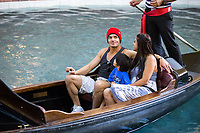 ***FILE PHOTO*** ANTONIO SABATO JR FORMALLY ANNOUNCES HE'S RUNNING FOR CONGRESS<br /> LAS VEGAS, NV - May 24, 2016: ***EXCLUSIVE*** Antonio Sab&Dagger;to Jr. seen with his wife Cheryl Moana Marie and their son Antonio Kamakanaalohamaikalani Harvey Sabato III on a Gondola ride at The Venetian Las Vegas  in Las vegas, NV on May 24, 2016. <br /> CAP/MPI/EKP<br /> &copy;EKP/MPI/Capital Pictures