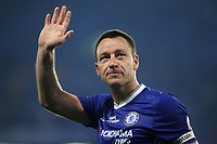 Chelsea's John Terry waves at the fans as he leaves the pitch after the final whistle during Chelsea vs Watford, Premier League Football at Stamford Bridge on 15th May 2017