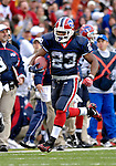 4 November 2007: Buffalo Bills running back Marshawn Lynch scores a touchdown against the Cincinnati Bengals at Ralph Wilson Stadium in Orchard Park, NY. Lynch had a career-best 153 yards rushing, including a 56-yard touchdown run in the final minutes of the game. The Bills defeated the Bengals 33-21 in front of a sellout crowd of 70,745...Mandatory Photo Credit: Ed Wolfstein Photo