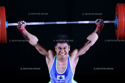 Yuta Kumakawa, <br /> MAY 22, 2016 - Weightlifting : <br /> All Japan Weightlifting Championship 2016 Men's -77kg <br /> at Yamanashi Municipal Gymnasium, Yamanashi, Japan. <br /> (Photo by AFLO SPORT)