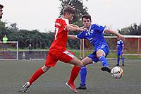 Sebastian Krieg (SKV Büttelborn) gegen Julian Rudel (VfL Michelstadt) - Büttelborn 24.09.2017: SKV Büttelborn vs. VfL Michelstadt