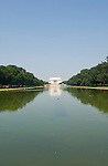 Washington DC; USA: The Reflecting Pool on the National Mall, with the Lincoln Memorial in the background.Photo copyright Lee Foster Photo # 5-washdc83272.