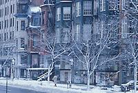 Newbury Street snow
