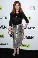 "HOLLYWOOD, LOS ANGELES, CA, USA - APRIL 02: Christina Hendricks at the Los Angeles Premiere Of AMC's ""Mad Men"" Season 7 held at ArcLight Cinemas on April 2, 2014 in Hollywood, Los Angeles, California, United States. (Photo by Xavier Collin/Celebrity Monitor)"