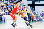 Kepkey Tyler Alexander #55 of Winling Basketball Club goes to the basket against the SCAA during the Hong Kong Basketball League game between SCAA vs Winling at Southorn Stadium on June 19, 2018 in Hong Kong. Photo by Yu Chun Christopher Wong / Power Sport Images