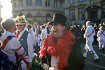 Oxford Uk. Wednesday 1st May 2013. Revellers and Morris Men celebrate May Day.