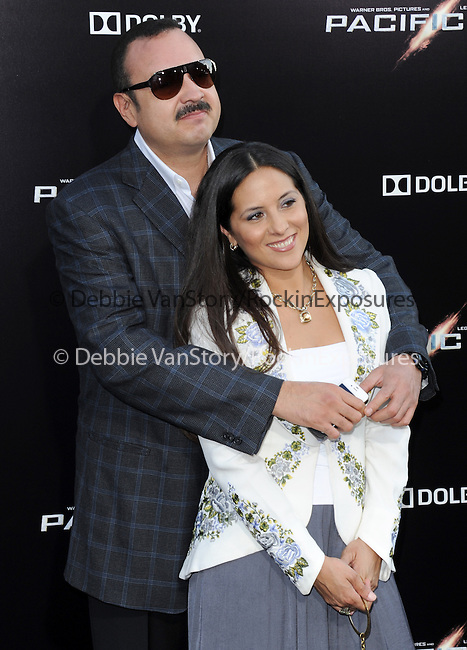 Pepe Aguilar and Aneliz Aguilar at The Warner Bros. Pictures L.A. Premiere of Pacific Premiere held at The Dolby Theater in Hollywood, California on July 09,2013                                                                   Copyright 2013 Hollywood Press Agency