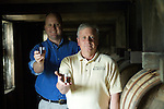 Chief Chemist Ken Pierce (right) and Master Distiller Greg Davis of 1792 Ridgemont Reserve Bourbon at the Tom Moore Distillery in Bardstown, Ky.