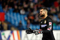 Moya of Atletico de Madrid during La Liga match between Atletico de Madrid and Villarreal at Vicente Calderon stadium in Madrid, Spain. December 14, 2014. (ALTERPHOTOS/Caro Marin) /NortePhoto