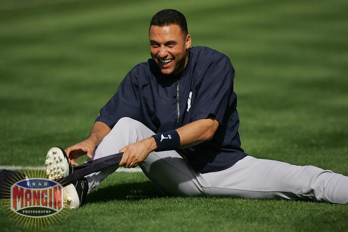 Derek Jeter. Baseball: New York Yankees vs Oakland Athletics. Oakland, CA 5/14/2005 MANDATORY CREDIT: Brad Mangin
